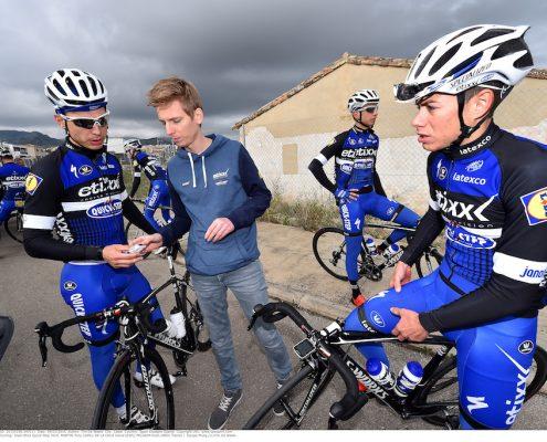 Cycling: Team Etixx Quick-Step 2016 MARTIN Tony (GER)/ DE LA CRUZ David (ESP)/ PELGRIM Koen (NED) Trainer / Equipe Ploeg /(c)Tim De Waele