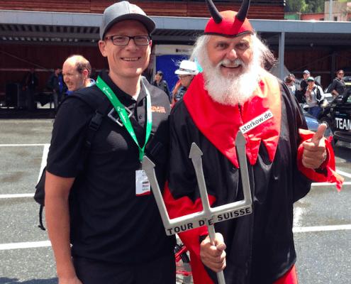 Karel with Devil at TdS