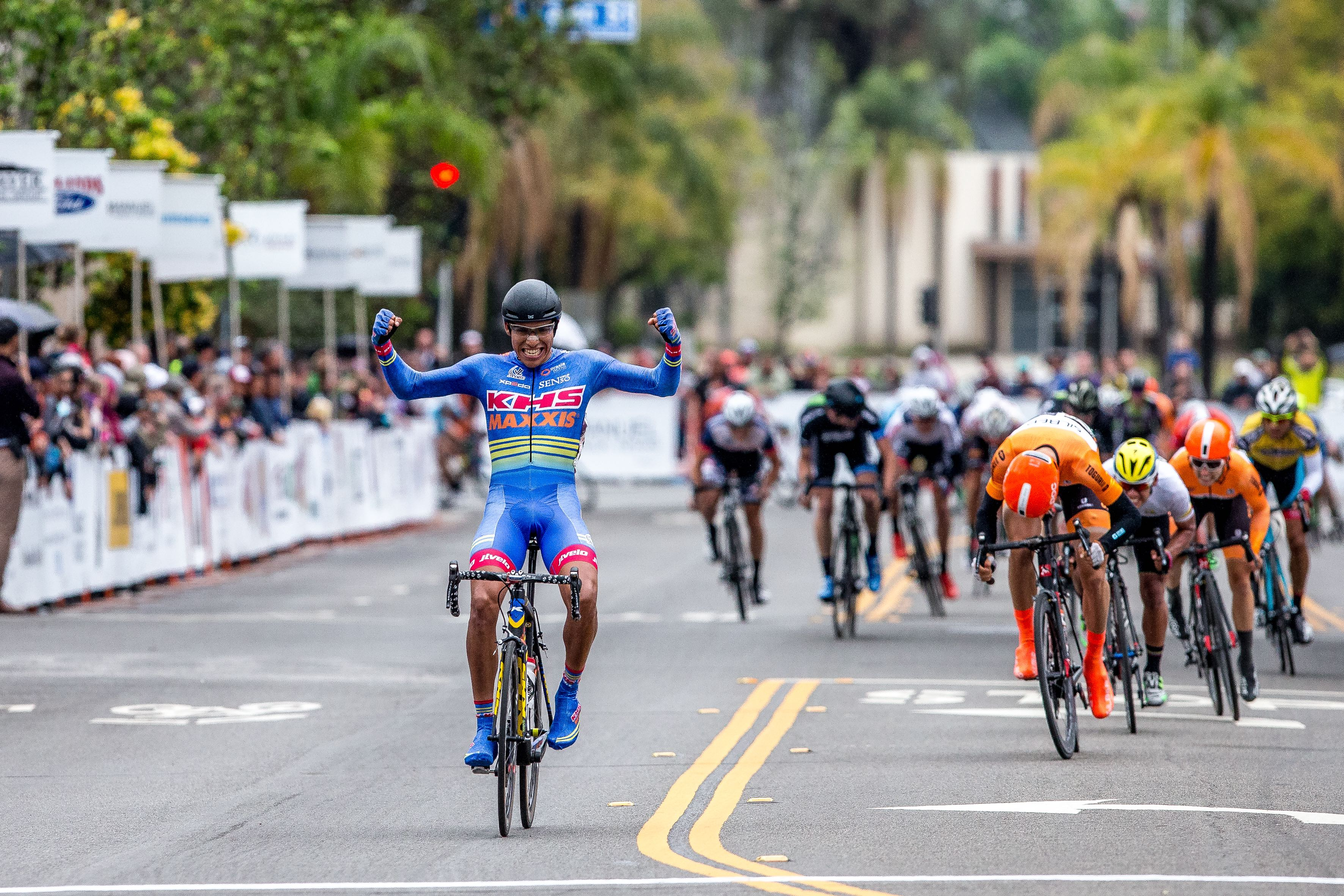 Ulises Castillo, KHS Maxis JLVelo winning Stage 4 2016 Redlands Bicycle Classic Criterium / Photo Credit http://www.dmunsonphoto.com /
