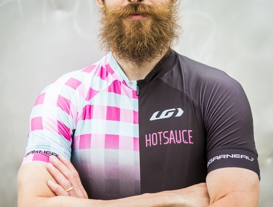 The infamous beard of Mark McConnell, @HotSauceCycling